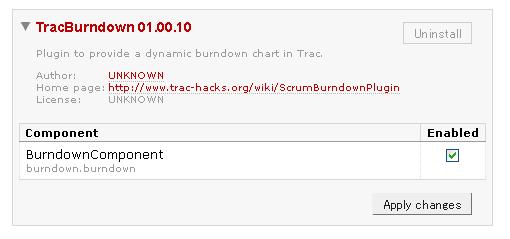 WebAdminのTracBurndown設定