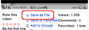 Save to Fileリンクが追加